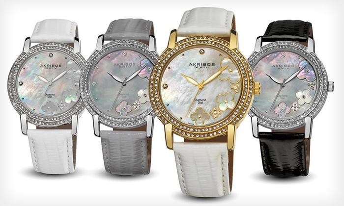 Akribos XXIV Women's Diamond Watches: Akribos XXIV Women's Diamond Watches (Up to 90% Off). 12 Styles Available.