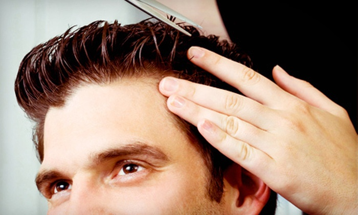 Karmel's Day Spa & Salon - Harrison: Three Men's Haircuts with Shampoo and Styling or Men's Grooming Package at Karmel's Day Spa & Salon (56% Off)
