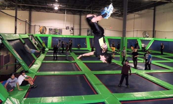 Rebounderz - Edison: Trampoline Time for Two or Four, Air Dodgeball for Two or Four, or Basketball Party for 20 at Rebounderz (Up to 55% Off)