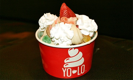 $12 for Four Groupons, Each Good for $5 Worth of Frozen Treats at YOLO Yogurt Love ($20 Total Value)