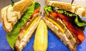 Fox & Fern Cafe: Two Sandwiches or Breakfast Items with Two Beverages at Fox & Fern Cafe (Up to 50% Off)
