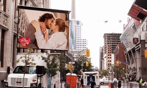 Groupon: $30,000 for 12'x16' LED Screen Delivery and Valentine's Day Proposal Package