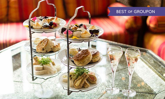 Premium Champagne Afternoon Tea at The Crazy Bear £25 (52% Off)