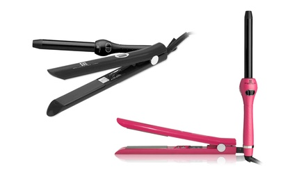 Brilliance New York Duet Pro Diamond Hair Straightener and Curling Iron Set