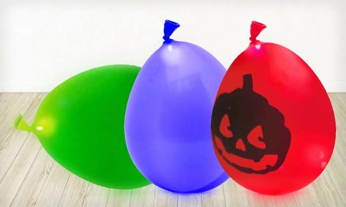 LED Light-Up Balloons: $15 for a 10-Pack of Multicolored or Halloween-Themed LED Balloons ($50 List Price). Free Shipping.