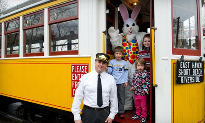 The Shore Line Trolley Museum - East Shore: Trolley Ride to the Easter Bunny for Two or Four at The Shore Line Trolley Museum (Up to 53% Off)