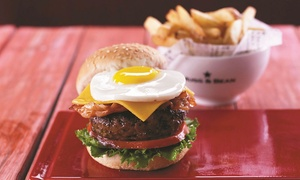 Mugg & Bean: Burger Meal with a Slice of Cake and Soft Drink for Up to Six at Choice of Location with Mugg & Bean (Up to 52% Off)