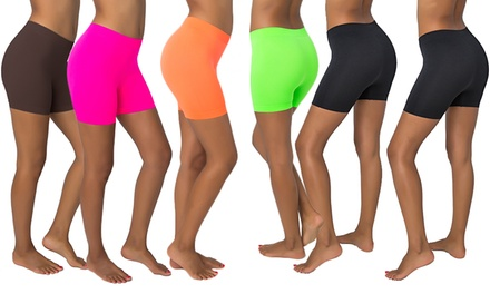 6-Pack of Women's Long, Slimming Shorts