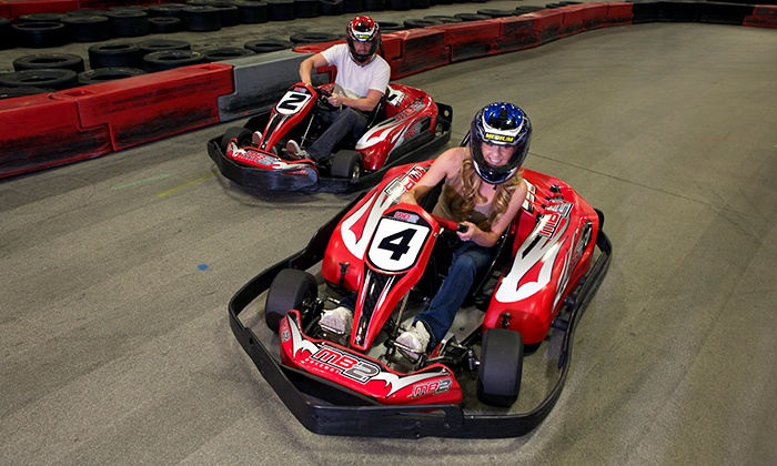 MB2 Raceway - Multiple Locations: 1 or 3 Go-Kart Races or VIP Track Pass with Race Discounts at MB2 Raceway (50% Off). Three Locations Available.
