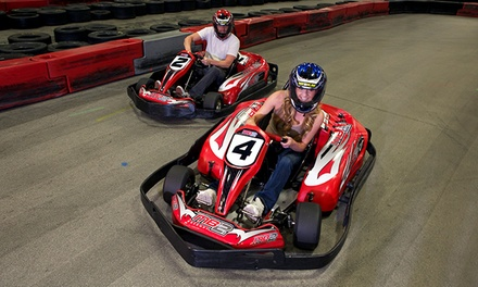 1 or 3 Go-Kart Races or VIP Track Pass with Race Discounts at MB2 Raceway (50% Off). Three Locations Available.
