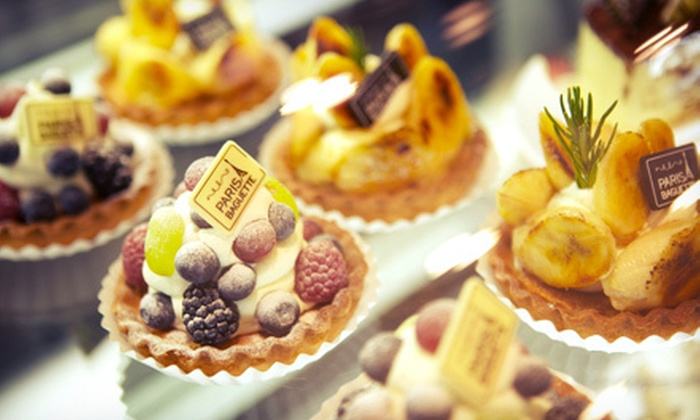 Paris Baguette - Multiple Locations: International Baked Goods, Cakes, Sandwiches, and Drinks at Paris Baguette (Half Off). Two Options Available.