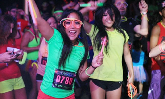 Night Time 5K Glow Run - Triangle: $29.99 for a Single Registration for Run To Rave 5K Run/Walk and Dance Party on October 12 ($63.51 Value)