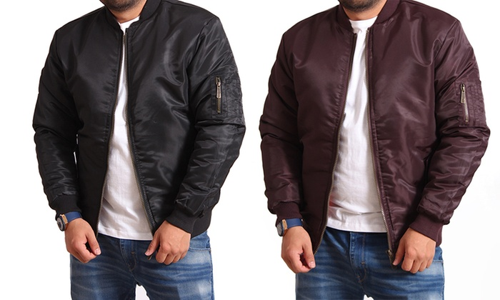 Men's MA1 Bomber Flight Jacket | Groupon Goods