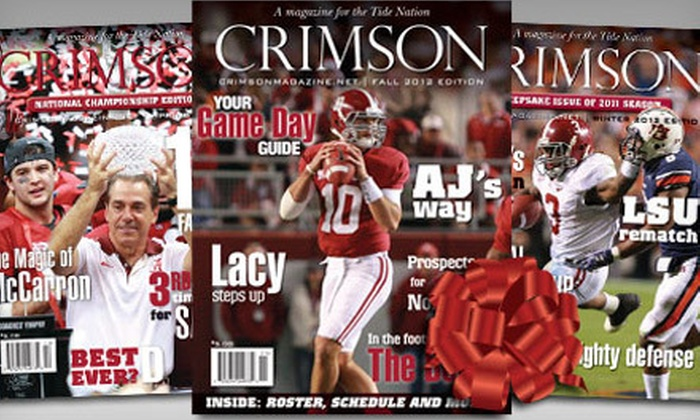 "Crimson Magazine: $10 for a One-Year Subscription to ""Crimson Magazine"" ($20 Value)"
