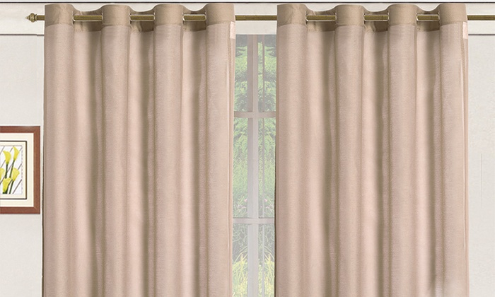 "Sheer Elegance Window Panels: Sheer Elegance 108""x84"" Window Panels with Grommets. Multiple Colors Available."