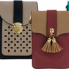 Two-Tone Cross-Body Purse with Removable Strap