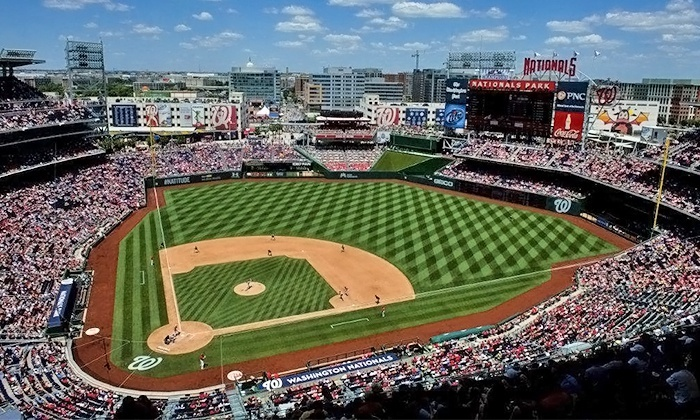 Washington Nationals - Nationals Park: Washington Nationals Game at Nationals Park on May 22 or June 1 or 3 (Up to 48% Off).  3 Seating Options Available.