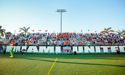 Two Single-Game Tickets or Season Tickets for Two or Four for Miami United FC at Flamingo Park Stadium (Up to 50% Off)