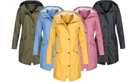 Women's Waterproof Long Jacket: One ($29.95) or Two ($54)