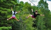 Monkey C Monkey Do - Pond Road: 3-Hour Zipline/Ropes-Course Outing for Two or Four or Birthday Party at Monkey C Monkey Do (Up to 51% Off)