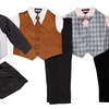 Boy's Vest Outfit Set (4-Piece)