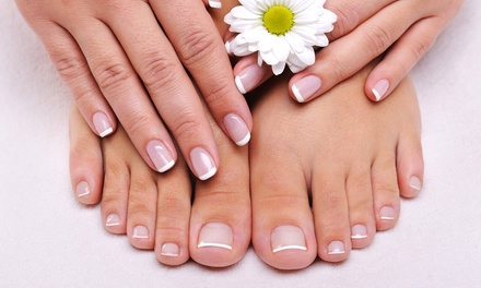 Manicure and Spa Pedicure or No-Chip Mani-Pedi at Truex Bluex Spa & Salon (Up to 43% Off)