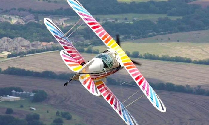 Four Winds Aviation - McKinney: $179 for a 30-Minute Aerobatic Airplane Discovery Flight from Four Winds Aviation ($400 Value)