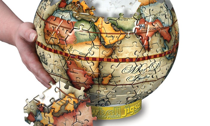 JigsawBall 3-D Puzzle: $19 for a JigsawBall Antique Globe or MLB Baseball 3-D Puzzle (Up to $23.95 List Price). Free Shipping and Free Returns.