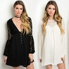 Women's Boho Bell-Sleeve Lace Dresses