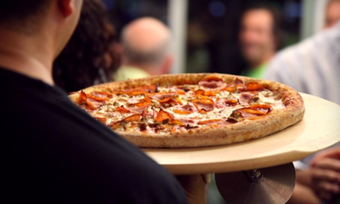 Naked Pizza - Ahwatukee Foothills: Pizza Meal for Four with Side and Drinks or $10 for $20 Worth of All-Natural Pizza at Naked Pizza