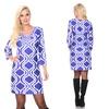 White Mark Augusta Moroccan-Print Dress (Size L)