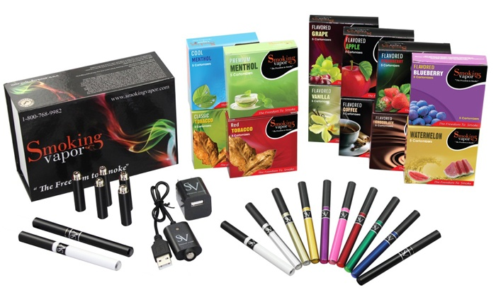 Smoking Vapor - Multiple Locations: $29 for an Electric-Cigarette Starter Kit at Smoking Vapor (Up to $89.95 Value)