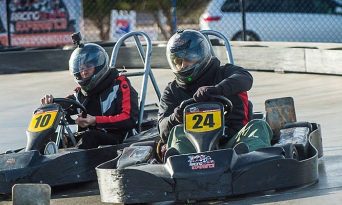 Gene Woods Racing Experience - Enterprise: Two Go-Kart Races for One or Two or VIP Package for Two at Gene Woods Racing Experience (Up to 83% Off)