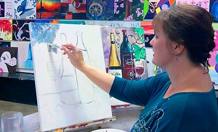 BYOB Painting Class for One, Two, or Four at Art in the Vine (51% Off)