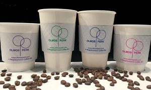 Olmos Perk Coffee Bar: $12 for Four Groupons, Each Good for $5 Worth of Coffee at Olmos Perk Coffee Bar ($20 Value)
