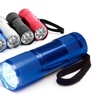 Aluminum 9-LED Flashlight with Batteries (4-Pack)
