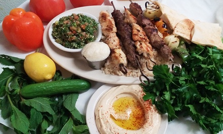 Minneapolis / St Paul: Hummus and Lebanese Entrees for Two or Four at Byblos Lebanese Grill (47% Off)