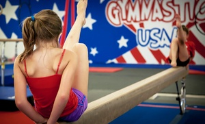 Gymnastics USA: One Month of Weekly Gymnastics Classes with Membership at Gymnastics USA (Up to 46% Off). Two Options Available.