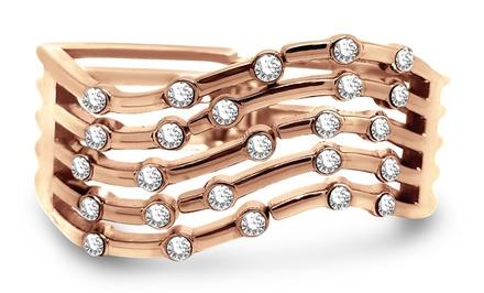 Crystal Cuff Bracelet Made with Swarvoski Elements