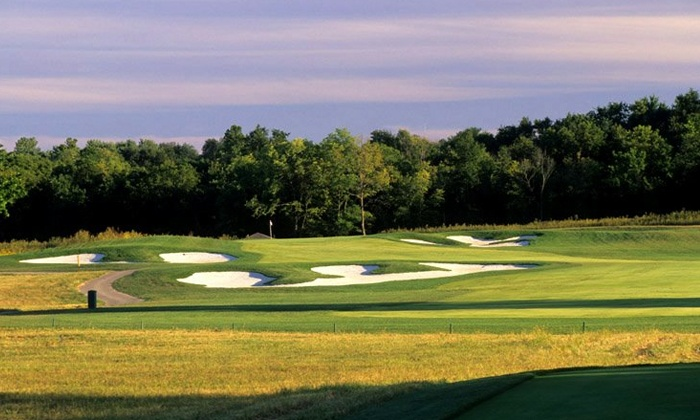 The Golf Club at Creekmoor - Raymore: 18-Hole Round with Cart and Range Balls at The Golf Club at Creekmoor (Up to 51% Off). Two Options Available.