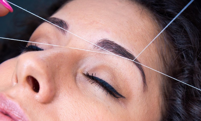 Unique Brows - Multiple Locations: Threading Session for Eyebrows and Upper Lip from Unique Brows (39% Off)