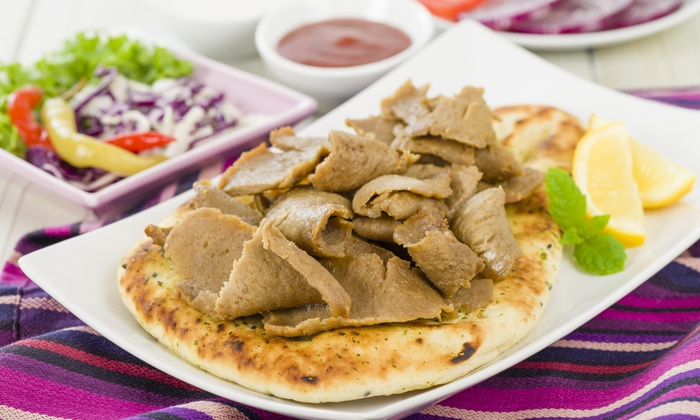 Hummus Bread & More - Kansas City: Two Gyros with a Side and Drinks at Hummus Bread & More Kc (43% Off)