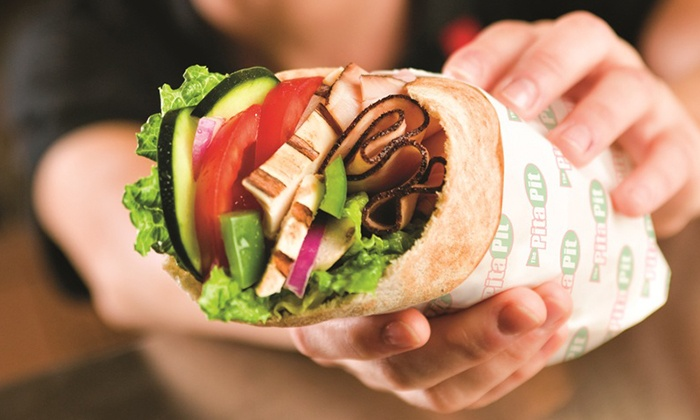 Pita Pit - Foggy Bottom - GWU - West End: Pita Sandwich Meal for Two or Pita Platter for Up to 10 at Pita Pit (Up to 42% Off)