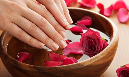 $24 for a Shellac Manicure with Scrub, Massage, and Hot Towels at Primpt & Polished Hair and Nail Boutique ($45 Value)