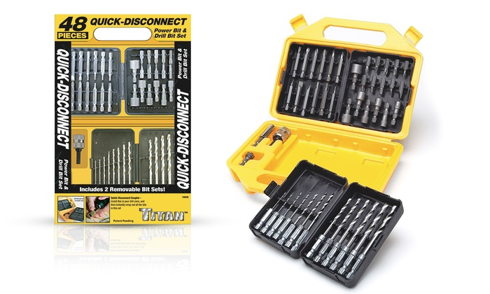 Titan Power Bit and Drill Bit Set (48-Piece)