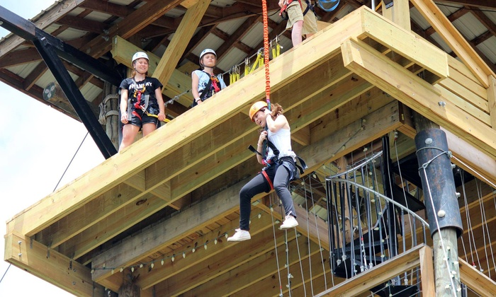 Adventure America Zipline Canopy Tours - Adventure America Zipline Canopy Tours: Two or Four Adventure Tower Quick Jumps for One or Two at Adventure America Zipline Canopy Tours (Up to 50% Off)