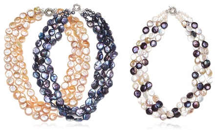 Freshwater Pearl Three-Strand Necklace