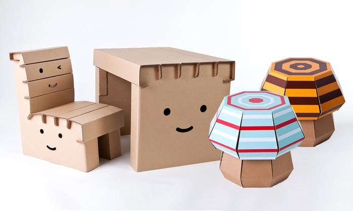 Tisch Aus Pappe funny paper kindermöbel aus pappe | groupon goods