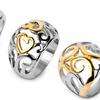 High-Polish Two-Tone Ring