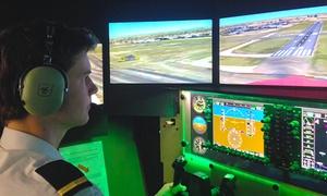 Amber Aviation Academy: Flight Simulation Experience - 30- ($49) or 60-Minute Session ($79) at Amber Aviation Academy
